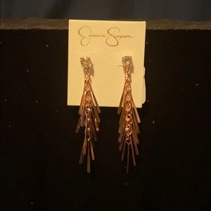 Jessica Simpson rose gold earrings new